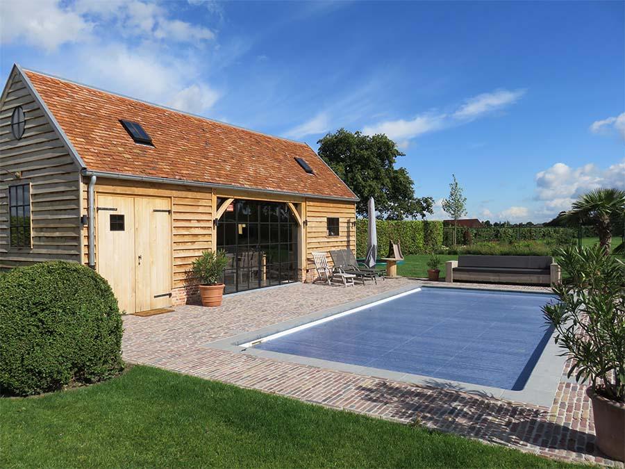 Terras aanleggen rond zwembad: houten terras aanleggen prijs foto s